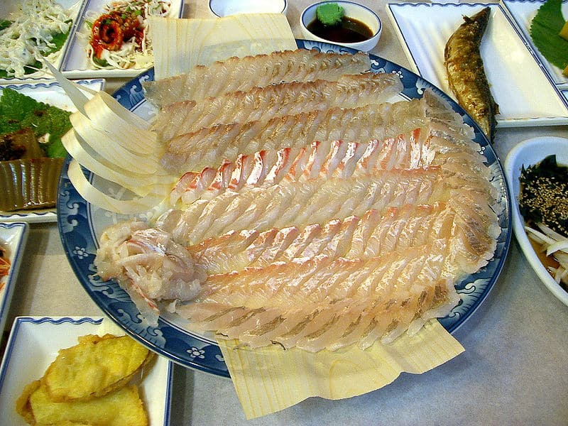 Getting a taste of korea join the adventure travel for Raw fish dish