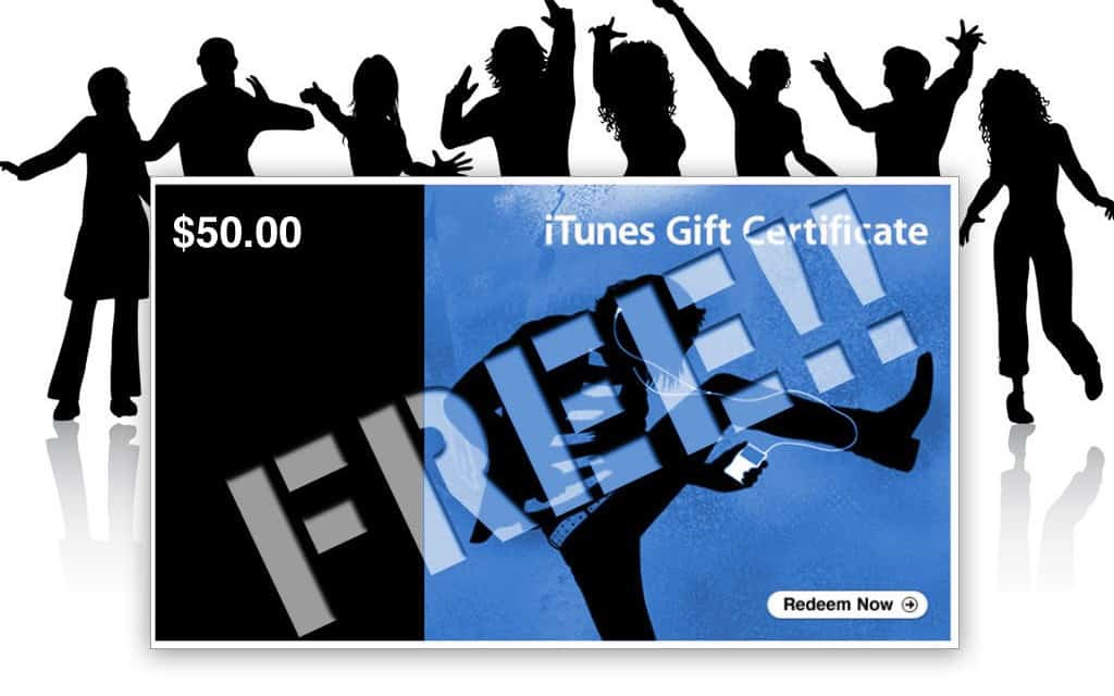 Free $50 iTunes Gift Card!!  Hurry, Ends July 15th at Midnight