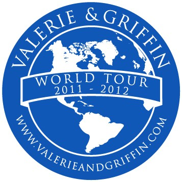 Valerie and Griffin World Tour Pin Design Option 4