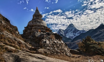 Travel Photo Of The Week: Stupa and Ama Dablam – Everest Base Camp Trek, Nepal