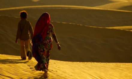 Travel Photo Of The Week: Desert Walkers At Sunset – Sam Sand Dunes – Jaisalmer, India